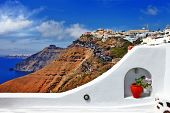 amazing Santorini , view of Firostefani. Greece