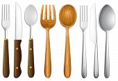 picture of tablespoon  - Illustration of cutlery set on white - JPG