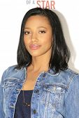 LOS ANGELES - FEB 22: Kylie Bunbury at the Abercrombie & Fitch 'The Making of a Star' Spring Campaig