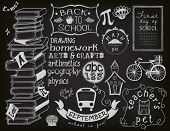 foto of school building  - Back to School Chalkboard  - JPG