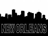 New Orleans Skyline Black Silhouette