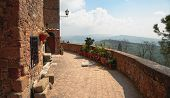 Walls of Pienza, Tuscany, Italy