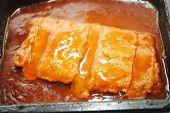 stock photo of unnatural  - Close Up of a Processed Boneless Pork Patty - JPG