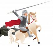image of jousting  - Knight with lance on horseback  - JPG
