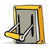 image of levers  - cartoon industrial machine lever - JPG