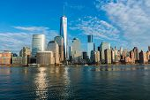 stock photo of empire state building  - Panorama of downtown Manhattan - JPG