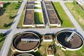 picture of sewage  - aerial view of Giannitsa city sewage treatment plant - JPG