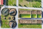 foto of sewage  - aerial view of Giannitsa city sewage treatment plant - JPG