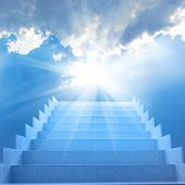 foto of staircases  - Stairs in sky - JPG