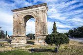stock photo of pilaster  - Triumphal arch of Bara in Tarragona Catalonia Spain - JPG