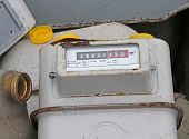 image of landfills  - old disused gas counters in a landfill of special waste - JPG
