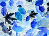 pic of modifier  - modified photo of fallen leaves in blue shades - JPG