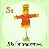 stock photo of scarecrow  - A letter S for scarecrow - JPG