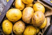 foto of crate  - Idaho Golden Potatoes - JPG