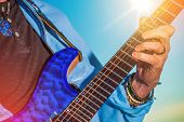 picture of guitar  - Rock Guitar Player - JPG