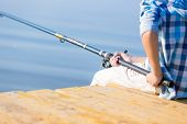 pic of fishing rod  - Close - JPG