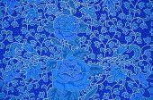 foto of batik  - The flower Batik Thai traditional background style - JPG