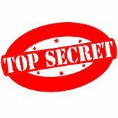 image of top-secret  - Stamp with text top secret inside vector illustration - JPG