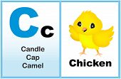 picture of kindergarten  - Alphabet letter C with clip - JPG