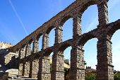 pic of aqueduct  - The Roman Aqueduct of Segovia - JPG