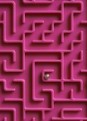 picture of maze  - Concept Shot Showing Ball At The Centre Of Maze - JPG