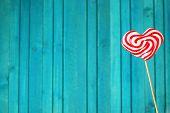 stock photo of lollipop  - Heart shaped lollipop for Valentine - JPG