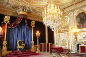 stock photo of throne  - Fontainebleau - JPG