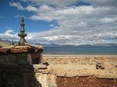 picture of tibetan  - Tibetan house roof - JPG