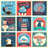 image of statue liberty  - A vector illustration of Fourth of July Independence Day icon sets - JPG