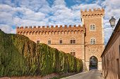 image of leghorn  - castle with tower and city gate of Bolgheri - JPG