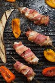 image of grill  - Grilled bacon - JPG