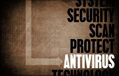 stock photo of antivirus  - Antivirus Core Principles as a Concept Abstract - JPG