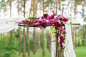 foto of wedding arch  - Detail of wedding decoration  - JPG