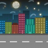 picture of urbanisation  - Night city location illustration - JPG
