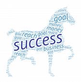 picture of white horse  - Success  - JPG