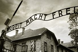 image of auschwitz  - Entrance to the Auschwitz concentration camp - JPG