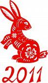 pic of rabbit year  - Chinese Zodiac of Rabbit Year the symbol of New Year 2011 - JPG