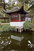 Ancient Red Pagoda Reflection Garden Of The Humble Administrator Suzhou China