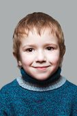 picture of ruddy-faced  - Little cheerful child boy happiness fun smiling - JPG
