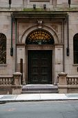 foto of 1700s  - the beautiful doors and entrance leading to the boston athenaeum built in the 1700s.