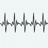 Heart Beat Cardiogram Icon poster