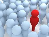 image of customer relationship management  - 3d render of leader concept  - JPG