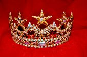 image of pageant  - Rhinestone tiara crown for a pageant princess or queen - JPG