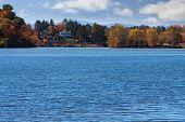 stock photo of asheville  - Overlooking Beaver Lake in Asheville North Carolina - JPG