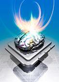 Постер, плакат: Микросхемы с мозга