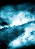 stock photo of rogue  - A 3d render of rogue waves as seen from an ariel viewpoint - JPG