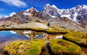 Beautiful mountains landscapes in Cordillera Huayhuash, Peru, South America poster