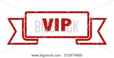 poster of Vip Grunge Ribbon. Vip Sign. Vip Banner