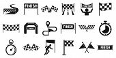 Finish Icons Set. Simple Set Of Finish Vector Icons For Web Design On White Background poster