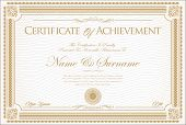 Certificate Or Diploma Retro Vintage Design 01.eps poster